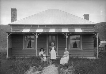 photograph of Appo and Ellen outside their Thorpe home from the Daroux collection, 76428/5