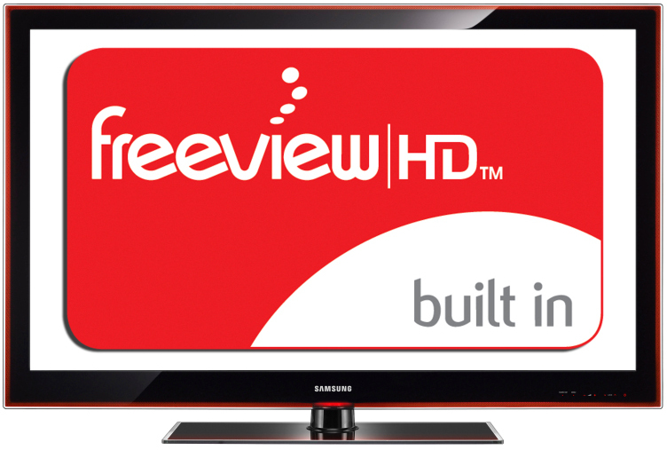 Image emphasising Freeview HD capability of the Samsung LCD TV's at Amber House Bed and Breakfast 
