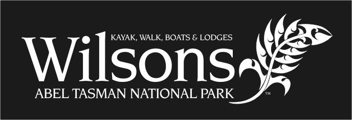 logo of the wonderful Wilsons Experiences firm in the Abel Tasman National Park
