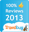 Amber House was awarded 100% Guest Rating in the 2013 TRAVELBUG ACCOMMODATION AWARDS BASED ON BOOKINGS AND POSITIVE CUSTOMER REVIEWS THROUGHOUT 2012