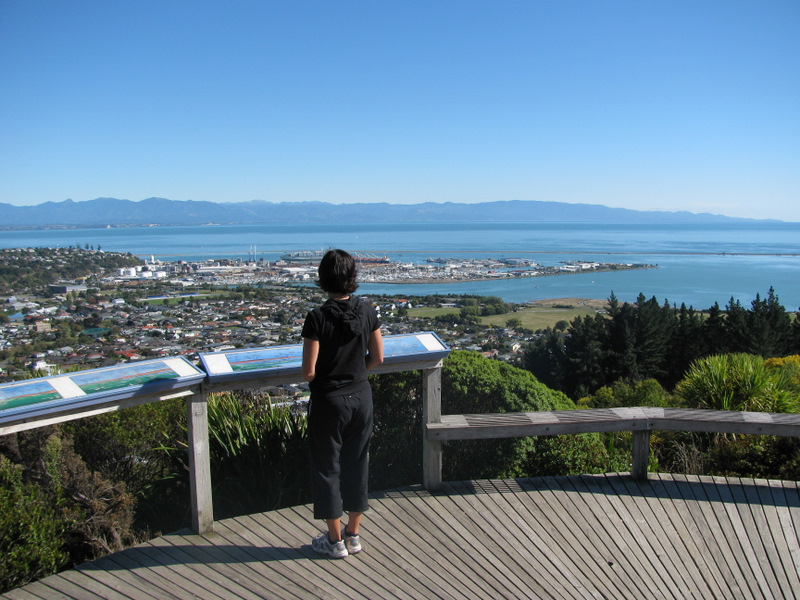 Photo of the fine view from the Centre of New Zealand monument