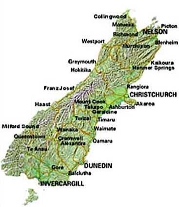 Christchurch location on the new zealand map